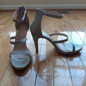 Kelly & Katie Strappy Silver Heels / Sandals